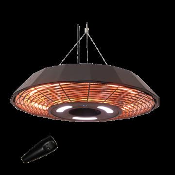 HORTUS Terrassevarmer - Sort (Hængemodel UFO)