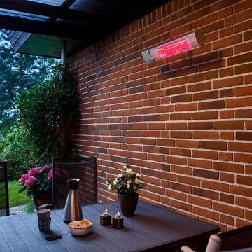 HORTUS Vægmonteret Terrassevarmer - Sølv