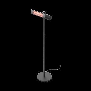 HORTUS Terrassevarmer - Sort (Fritstående Gulvmodel)