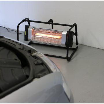 HORTUS Terrassevarmer Gulvmodel - Sølv/sort