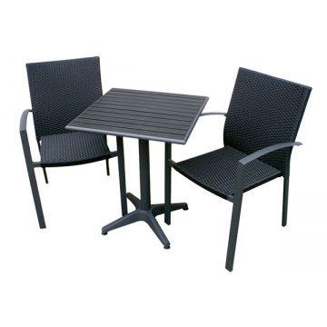 Cafésæt med Stabelstole