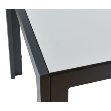 Havebord i HPL - Antracit/lysegrå