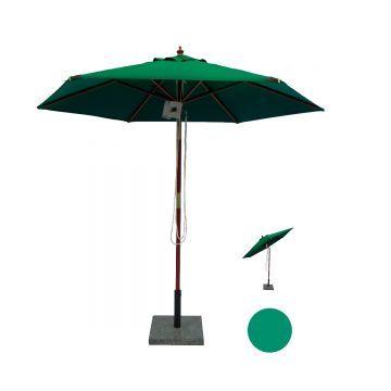 Geneve Rund Parasol (Vælg Farve)
