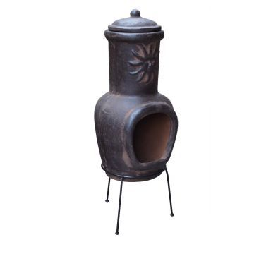Mexicansk Chiminea m/Sol Lille - (Vælg Farve)