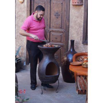 Mexicansk Chimenea - BBQ (Brun)