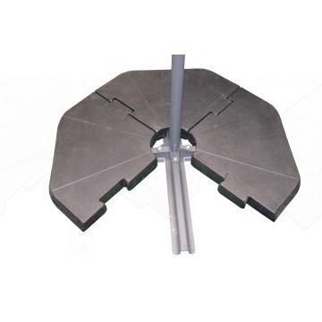 Opfyldelig Trekanter til Krydsfod (Parasolfod)