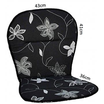 Hynde til plaststol (2cm) – Deco black