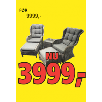 Sofia Lux Øreklap Loungesæt