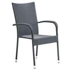 Pisca Stabelstol (stål) - Sort